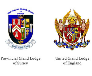 Provincial Grand Lodge of Surrey and United Grand Lodge of England Crests
